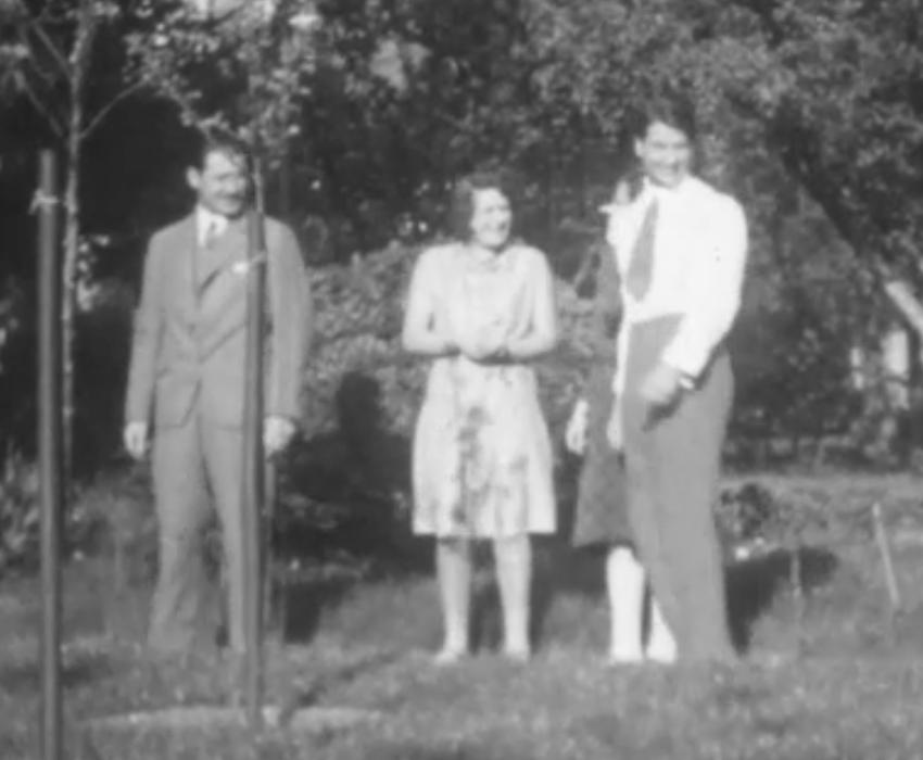 Curt Herzstark (links) und Familie, Wien ca. 1934/36. © StadtFilmWien