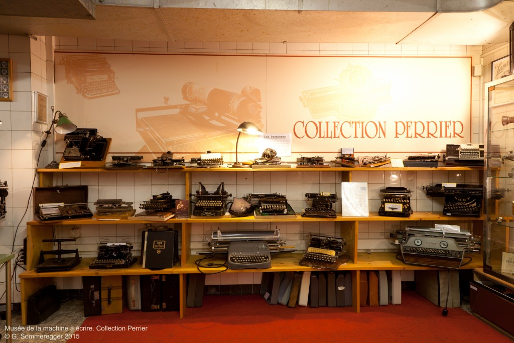 Vernissage de l'exposition Hermes au Musée de la machine à écrire (Collection Perrier), Lausanne, 12 septembre 2015.